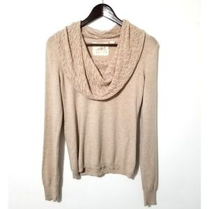 Anthro Cashmere Blend Cowl Neck Sweater